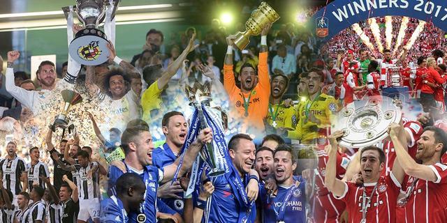 冠军是属于胜利者的勋章,每一个捧杯瞬间都是王者荣耀!2017的足球历史,由这些站在巅峰的团队书写。