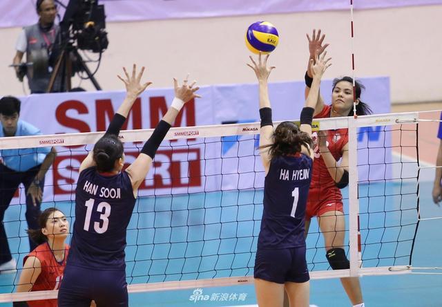 女排亚洲杯中国台北3-1韩国进四强