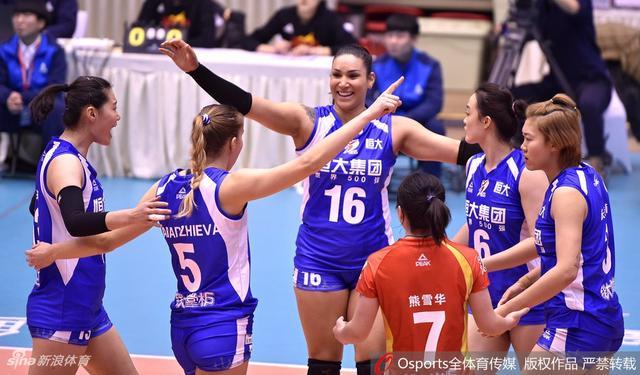 2018-2019赛季中国女排超级联赛精英赛第2轮:八一南昌3:1胜广东恒大