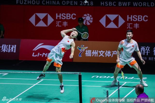 2018年11月9日,2018年中国(福州)羽毛球公开赛男双1/4决赛,刘成/张楠vs廖敏竣/苏敬恒。