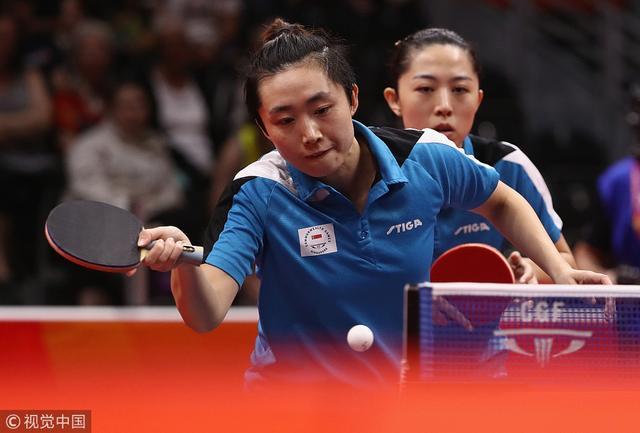 英联邦运动会冯天薇/于梦雨夺得乒乓球女双金牌。