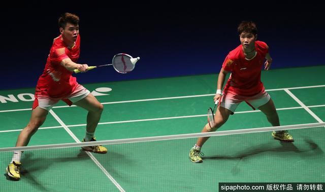 当地时间2018年9月14日,日本东京,2018日本羽毛球公开赛混双第3轮:王懿律/黄东萍2-0吴顺发/赖洁敏(马来西亚)。