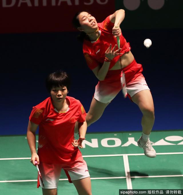 当地时间2018年9月14日,日本东京,2018日本羽毛球公开赛女双1/4决赛:陈清晨/贾一凡2-0汤金华/于小含。