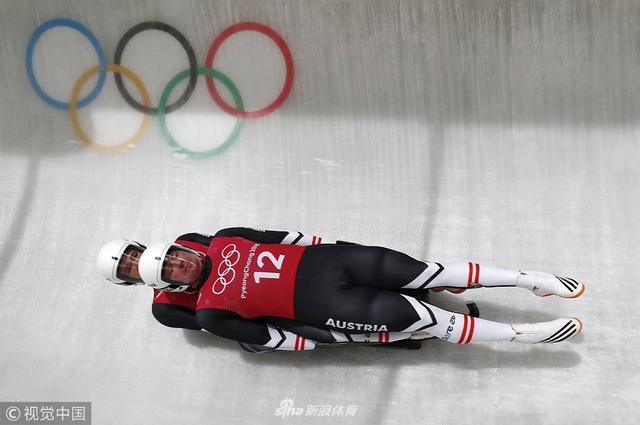 2018年2月13日,2018平昌冬奥会2月13日无舵雪橇赛况。