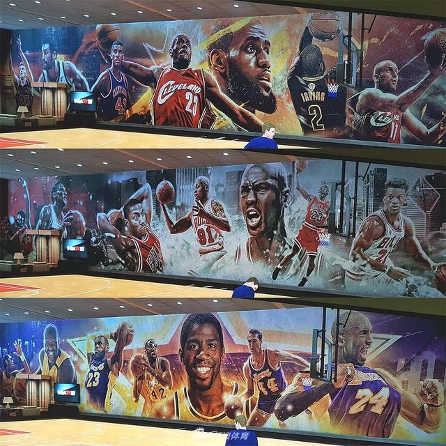 一组国外设计师设计的NBA30队壁画,其中包含历史和现在的明星球员,乔丹、科比和詹姆斯引领众球星,谁是你的最爱?