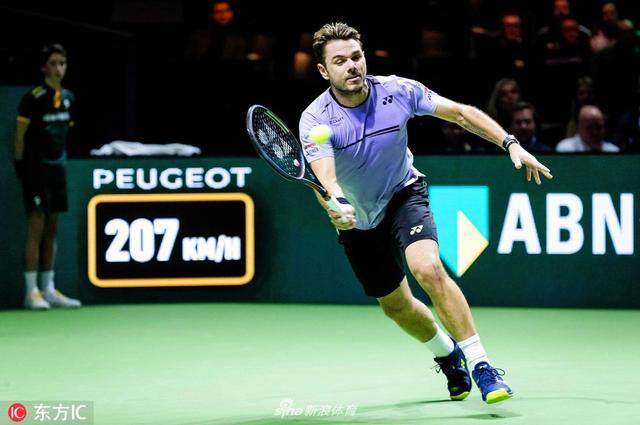 当地时间2019年2月11日,荷兰阿姆斯特丹,2019年ATP荷兰银行世界网球锦标赛男单首轮,瓦林卡2-0帕尔雷。