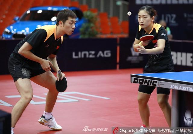 11月8日,2018年奥地利乒乓球公开赛混双第1轮:许昕/刘诗雯3:1胜费格尔/波尔卡诺娃。