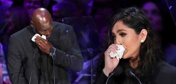 科比追思会乔丹含泪悼念 瓦妮莎惹人疼
