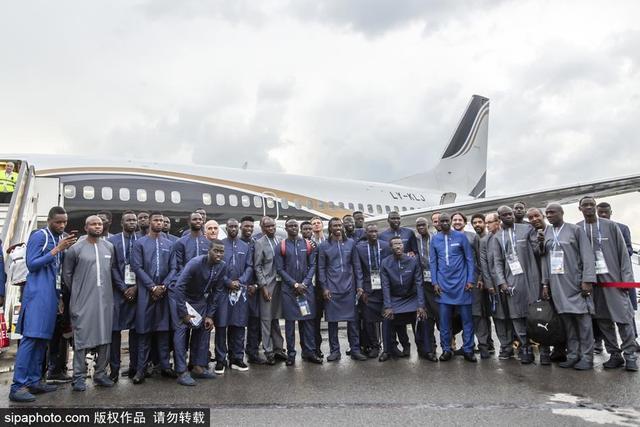 2018年6月13日讯,俄罗斯卡卢加,2018年俄罗斯世界杯前瞻,塞内加尔抵达俄罗斯。