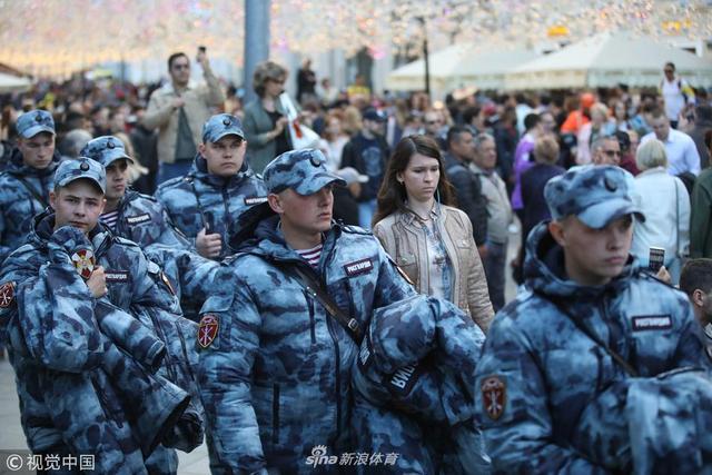 2018年6月13日,俄罗斯莫斯科,2018俄罗斯世界杯前瞻,世界杯开赛在即,俄罗斯安保措施严密。