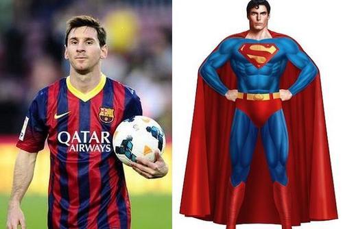 超人梅西vs蝙蝠侠超人!足坛的超级英雄们