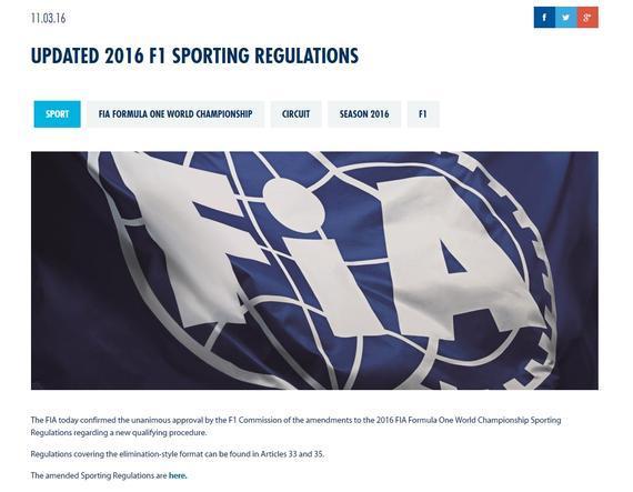 """FIA正式颁布了""""90秒淘汰制""""F1排位赛新规则相关细节"""