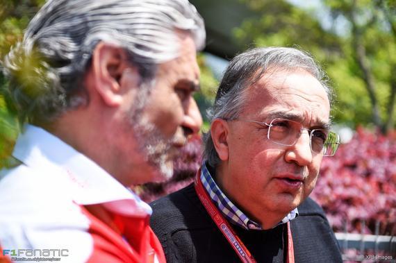 法拉利主席马尔乔内和领队阿德里巴贝内