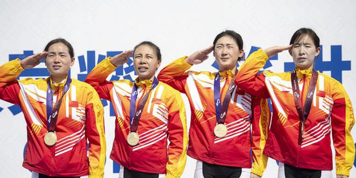中國隊獲軍運會公路自行車女子個人、團體賽冠軍