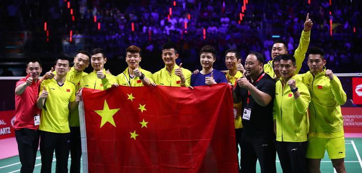 中国3-1日本重夺汤杯 国羽疯狂庆祝
