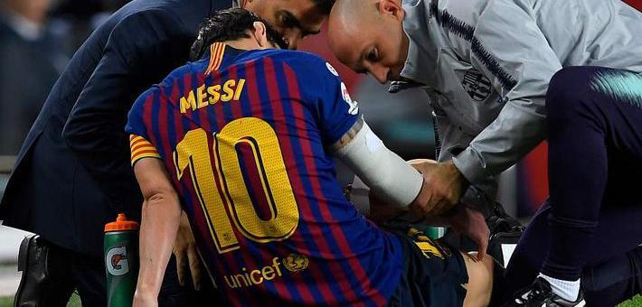 西甲-梅西右臂骨折 巴萨4-2重回榜首
