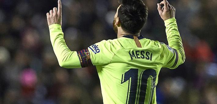 今夜梅西就是上帝!独造5球助巴萨大胜