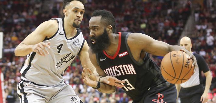 NBA-哈登爆砍61分 火箭力克马刺
