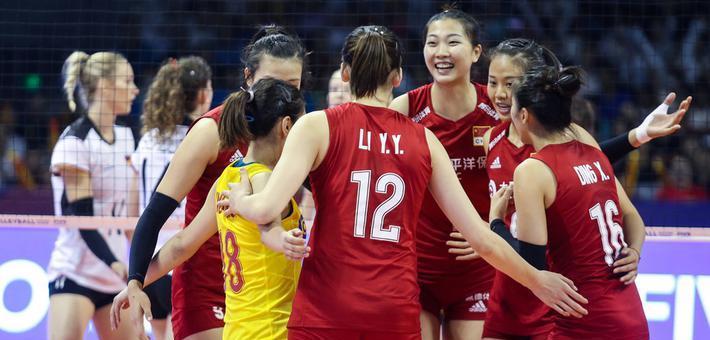 世界女排联赛-朱婷休战中国3-0德国