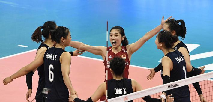 世联中国女排3-0塞尔维亚