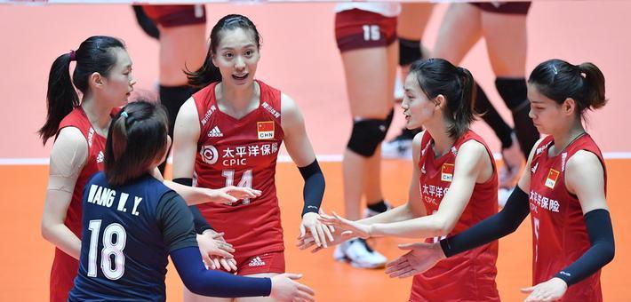 亚锦赛中国女排3-2日本挺进四强