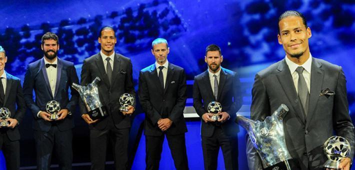 范戴克力压梅西C罗荣膺欧洲最佳球员