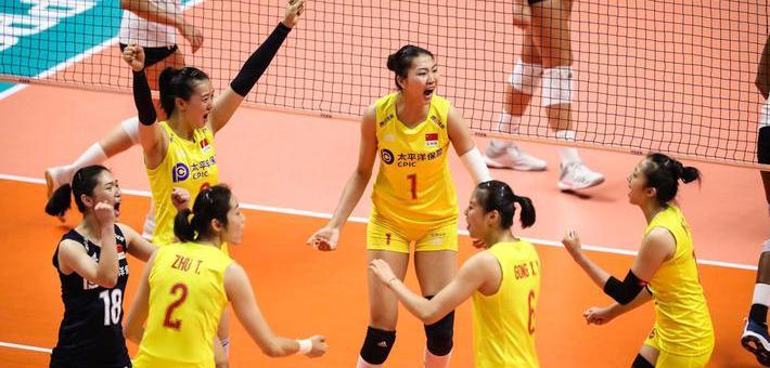 夺冠在望!世界杯中国女排3-0美国