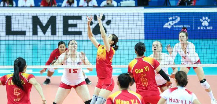 军运会八一女排首战3-0完胜美国