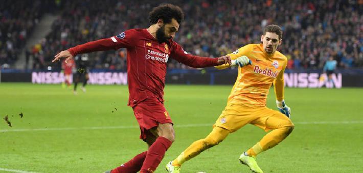 欧冠-萨拉赫零度角破门 利物浦夺头名出线
