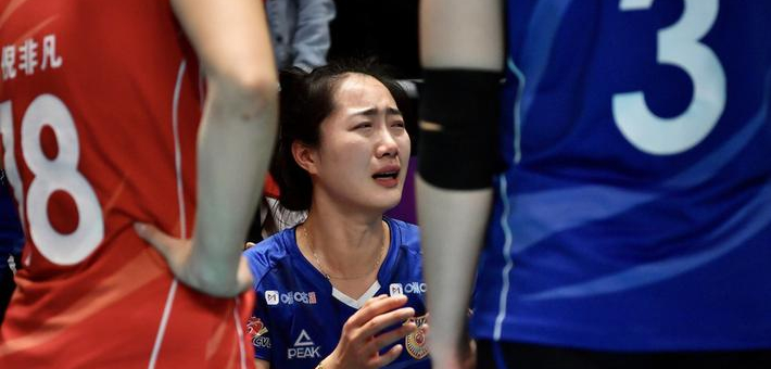 江苏女排负广东 张常宁赛后落泪