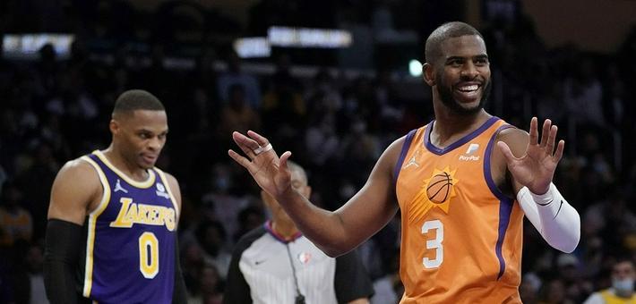 [NBA常规赛]太阳力克湖人 保罗23+14