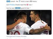C罗大四喜征服全世界 国际足联:C罗是火星人吧