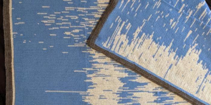 父親把孩子的睡眠數據編成了毯子 以8650美元被拍