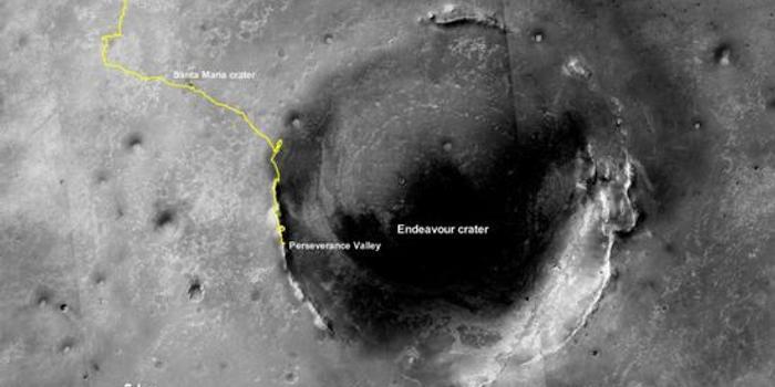 NASA公布机遇号在火星上的最后路线图