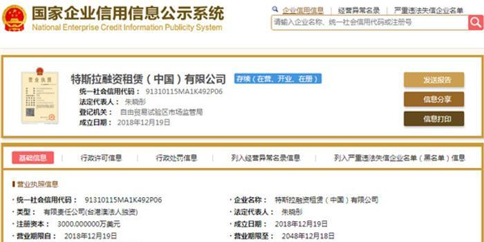 特斯拉在滬成立融資租賃公司,中國工廠尚無動工跡象