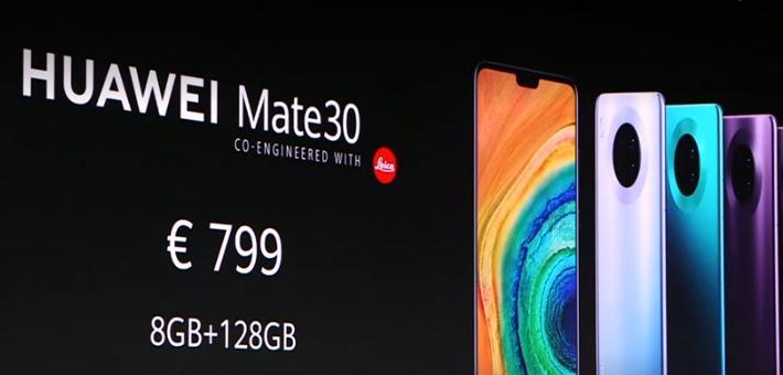 华为发布Mate30系列手机 799欧元起售