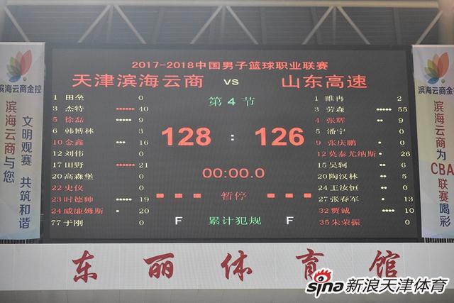 2月11日晚,CBA展开常规赛收官战争夺,天津男篮主场128-126击败山东男篮。