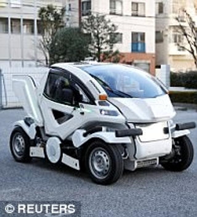 新浪科技讯 日本一家公司开发出了一款能折叠的电动汽车,灵感取自著名的《机动战士高达》系列动画。
