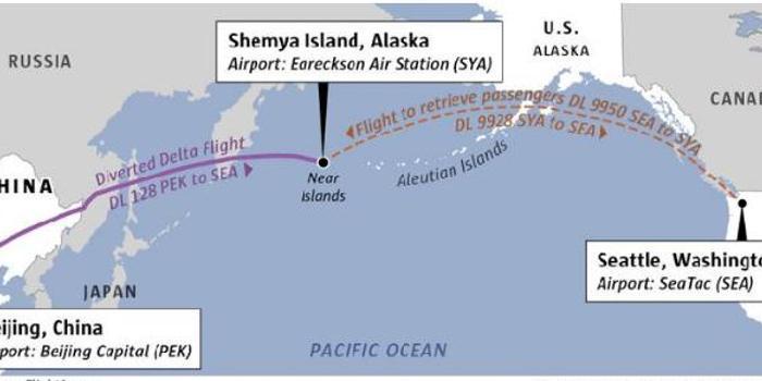 達美航空北京飛西雅圖飛機故障 194名乘客備降美空軍基地