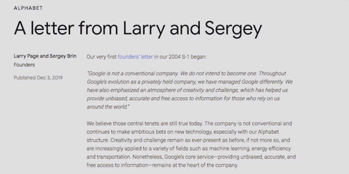 谷歌三駕馬車成歷史 皮查伊兼任母公司CEO