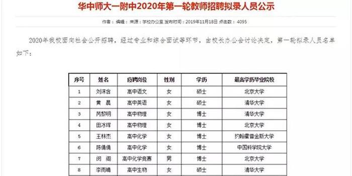 中學回應清華北大豪華教師陣容 網友吵起來了