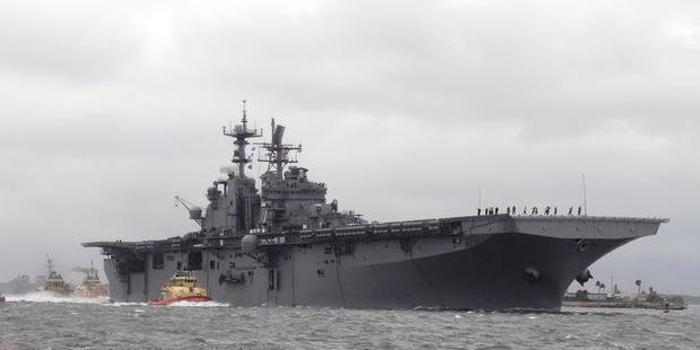 美海军硫磺岛号两栖攻击舰发生火灾 烧了5小时