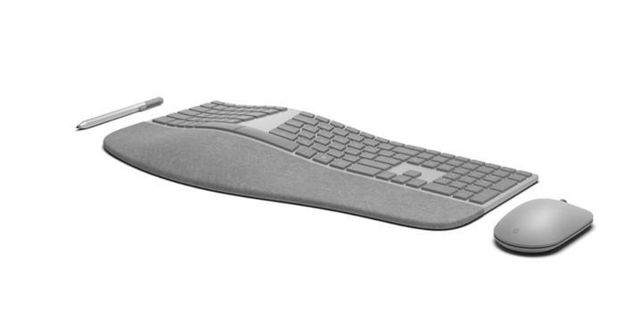 除了新Surface 微軟還將推新款人體工程學鍵盤和鼠標