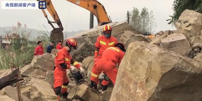 四川蓬安縣金溪鎮碧山村突發意外山體落石 致3死