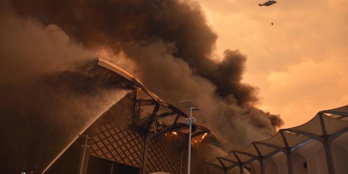 """沙特""""中東最快高鐵""""一座車站發生大火 原因不明"""