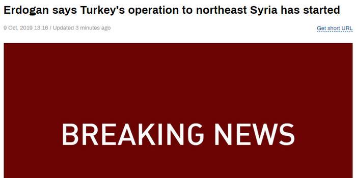 土耳其對敘發動軍事行動 敘利亞東北部遭戰機襲擊