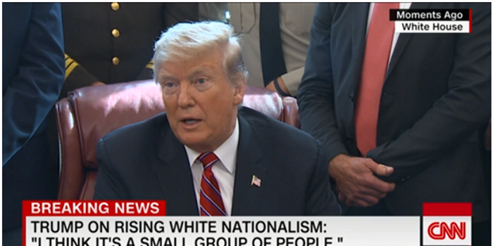 特朗普談新西蘭槍擊案:沒看到白人至上主義