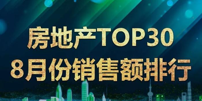 房企8月銷售額:中國建筑環比降43% 融信龍光降10%