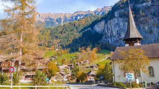 劳特布龙嫩,瑞士的瀑布镇