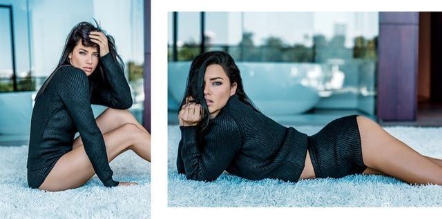 巴西顶级名模阿德里亚娜·利马化身霸气希腊女神登上杂志封面,高腰美裙大展傲人曲线。